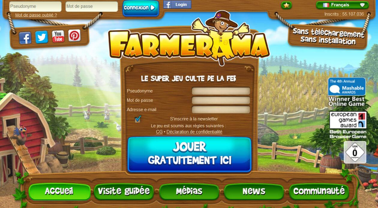 Farmerama: 55 millions de fermiers virtuels