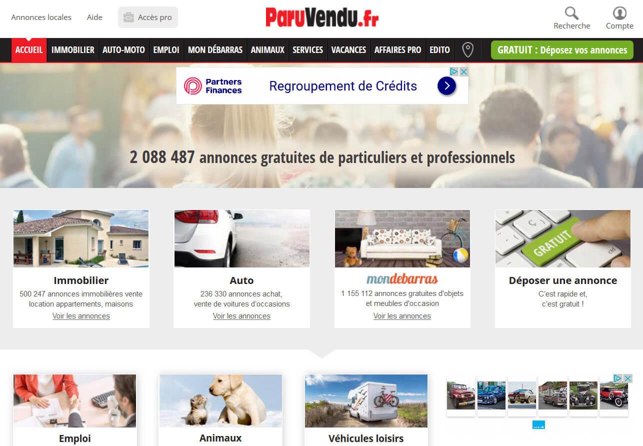Paru vendu: L'un des premier sites d'annonces en France